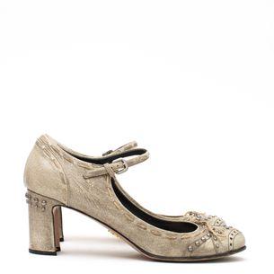 Sapato-Mary-Jane-Prada-Craquelado-Cinza