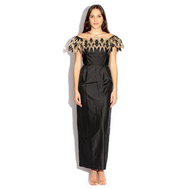 Vestido-Loop-Vintage-Preto-e-Dourado