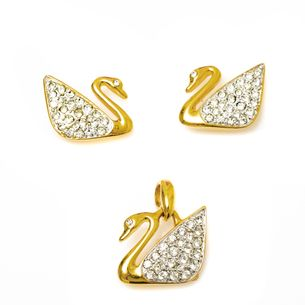 Conjunto-Swarovski-Cisne-Dourado