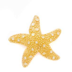 Broche-Swarovski-Estrela-do-Mar-Dourado