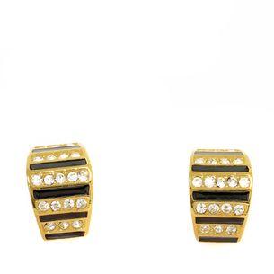 Brinco-de-Pressao-Christian-Dior-Dourado-Esmaltado