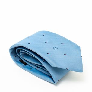 Gravata-Christian-Dior-Azul-Claro