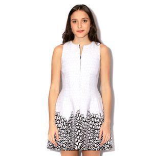 Vestido-Armani-Exchange-Texturizado-Branco-e-Preto