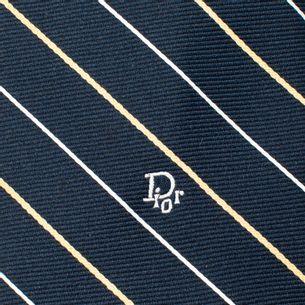 Gravata-Christian-Dior-Azul-Marinho-Listrada