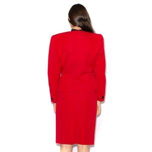Conjunto-Christian-Dior-Vermelho-Vintage