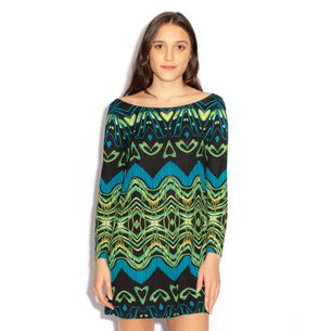 Vestido-Diane-von-Furstenberg-Estampa-Verde-e-Azul
