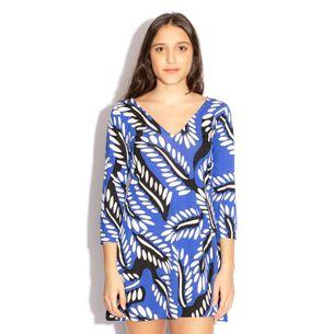 Vestido-Diane-von-Furstenberg-Estampa-Preto-e-Azul
