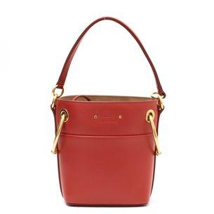 Bolsa-Chloe-Mini-Roy-Bucket-Couro-Vermelho