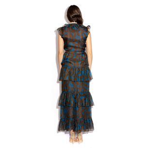 Vestido-Saint-Laurent-Vintage-Marrom-e-Azul