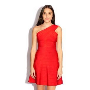 Vestido-Herve-Leger-Bandagem-Vermelho