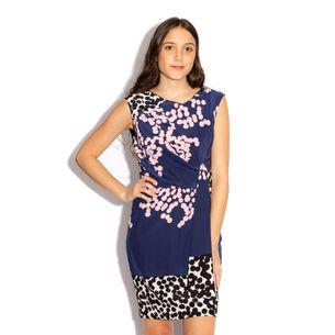 Vestido-Diane-von-Furstenberg-Seda-Azul-Marinho-Estampado