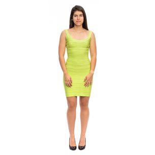Vestido-Herve-Leger-Verde