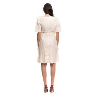 Vestido-Gucci-Linho-Bege