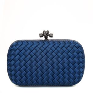 Clutch-Bottega-Veneta-Chain-Knot-Azul