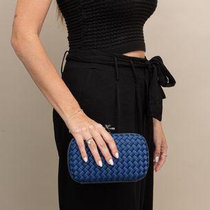 Clutch-Bottega-Veneta-Chain-Knot-Azul