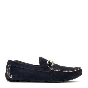 Sapato-Mocassim-Salvatore-Ferragamo-Camurca-Azul