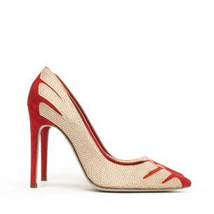 Scarpin-Vermelho-e-Dourado-Rene-Caovilla