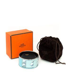 Bracelete-Hermes-Wide-Enamel-Azul