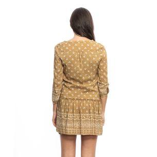 Vestido-Burberry-Brit-Estampado-Mostarda