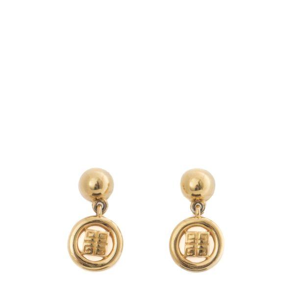 Brincos-Givenchy-Medalhinha-Dourada