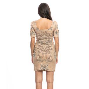 Vestido-Versace-Bege-Estampado