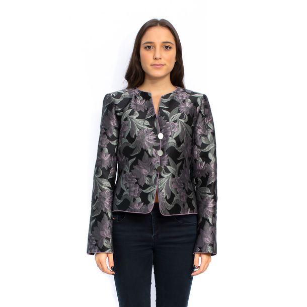 Blazer-Armani-Collezioni-Preto-Floral