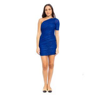 Vestido-BCBG-Tule-Azul-Drapeado