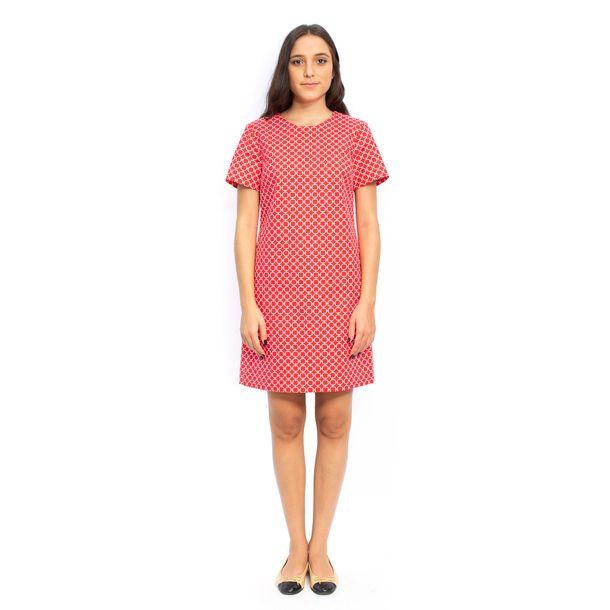 Vestido-Michael-Kors-Vermelho-Estampado