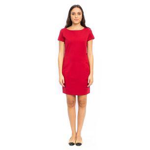 Vestido-Armani-Exchange-Vermelho-Botoes