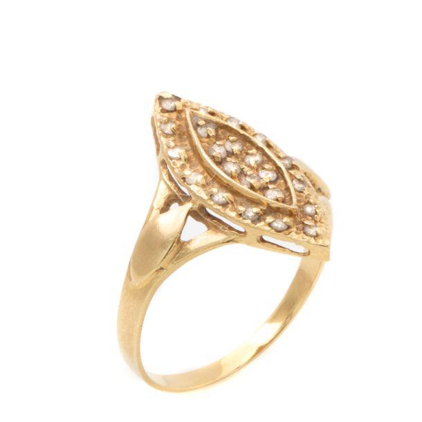 Anel-Vintage-Ouro-Amarelo-e-Brilhantes