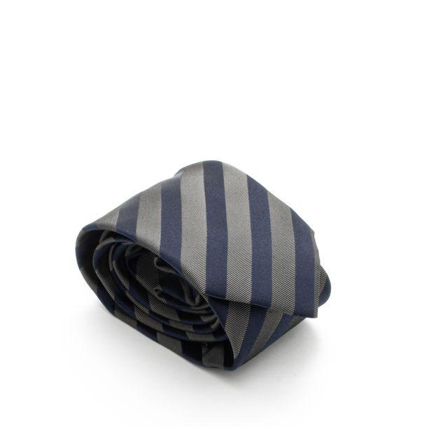 Gravata-Hugo-Boss-Listrada-Azul-e-Cinza