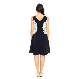 Vestido-Ralph-Lauren-Preto-Renda-Branca