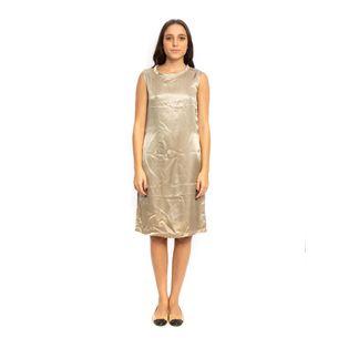 Vestido-MaxMara-Seda-Cinza