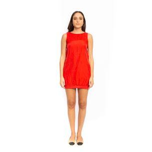 Vestido-Armani-Exchange-Seda-Vermelha