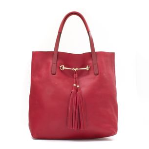 Bolsa-Gucci-Tote-Couro-Vermelha