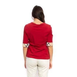 Blusa-Burberry-Malha-Vermelha