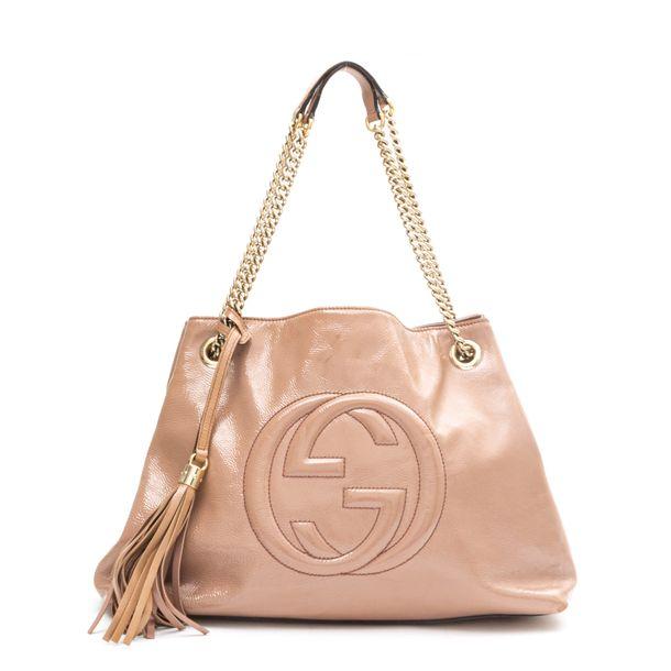 Bolsa-Gucci-Soho-Chain-Verniz-Rose