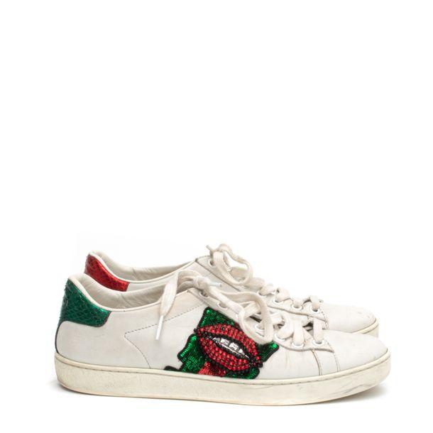 Tenis-Gucci-Couro-Branco