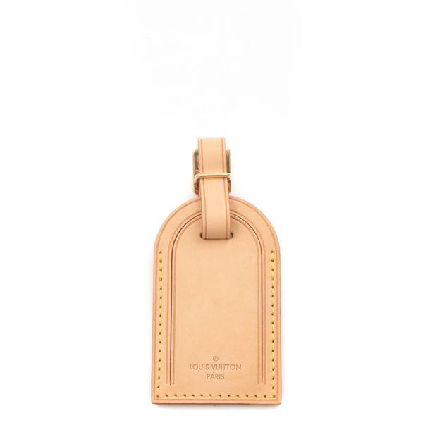 Tag-Para-Mala-Louis-Vuitton-Couro-Cru
