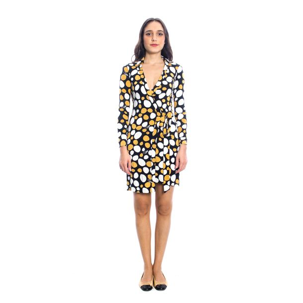 Vestido-Diane-Von-Furstenberg-Wrap-Estampa-Bolinhas