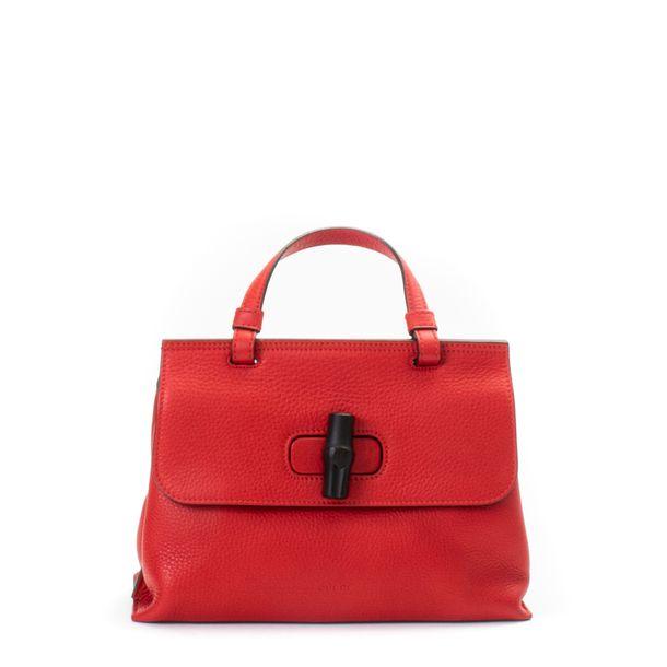 Bolsa-Gucci-Bamboo-Daily-Top-Handle-Bag-Vermelha