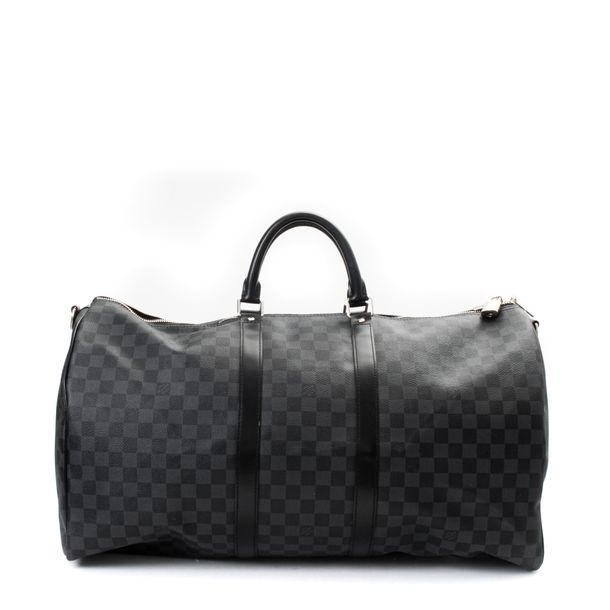 Mala-Louis-Vuitton-Keepall-55-Damier-Graphite