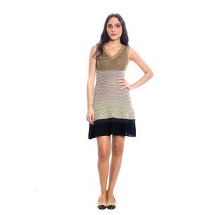 Vestido-Missoni-Dourado-e-Preto