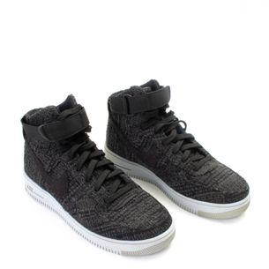 Tenis-Nike-Air-Force-1-Ultra-Flyknit-Mid-Dark-Grey-Black