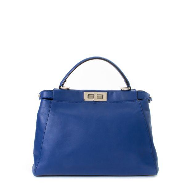 Bolsa-Fendi-Peekaboo-Python-e-Couro-Azul