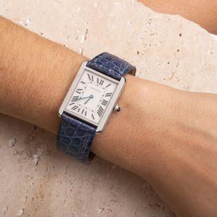 Relogio-Cartier-Tank-Solo-Quartz-Azul