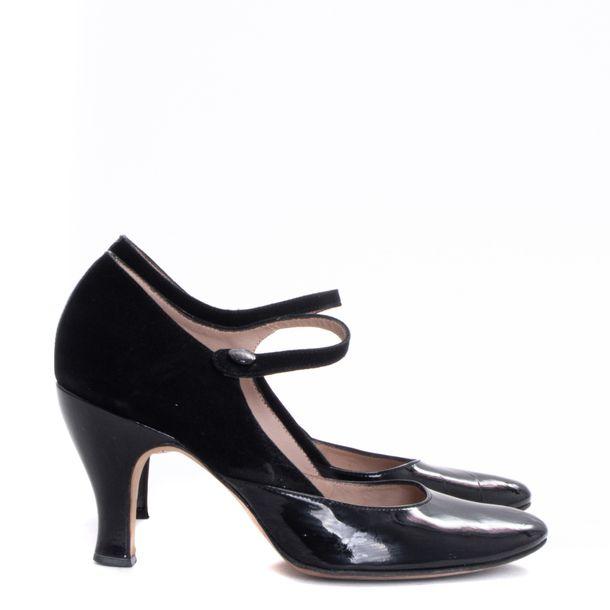 Sapato-Repetto-Veludo-e-Verniz