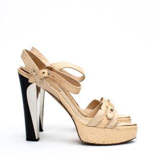 Roberta-Cavalli-Beige-Python-Sandals