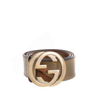 Cinto-Gucci-Canvas-Monograma-Dourado