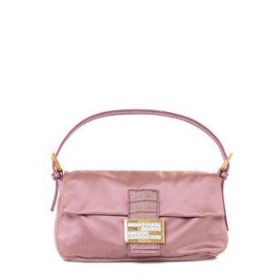 Bolsa-Fendi-Baguette-Cetim-Rosa-Vintage